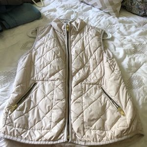 Old navy quilted vest - cream colored - small